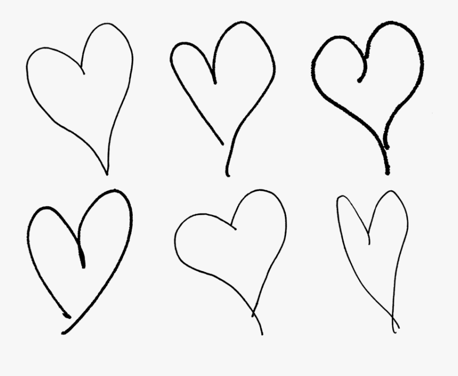 Hand Drawn Heart Png - Hand Drawn Line Heart, Transparent Clipart