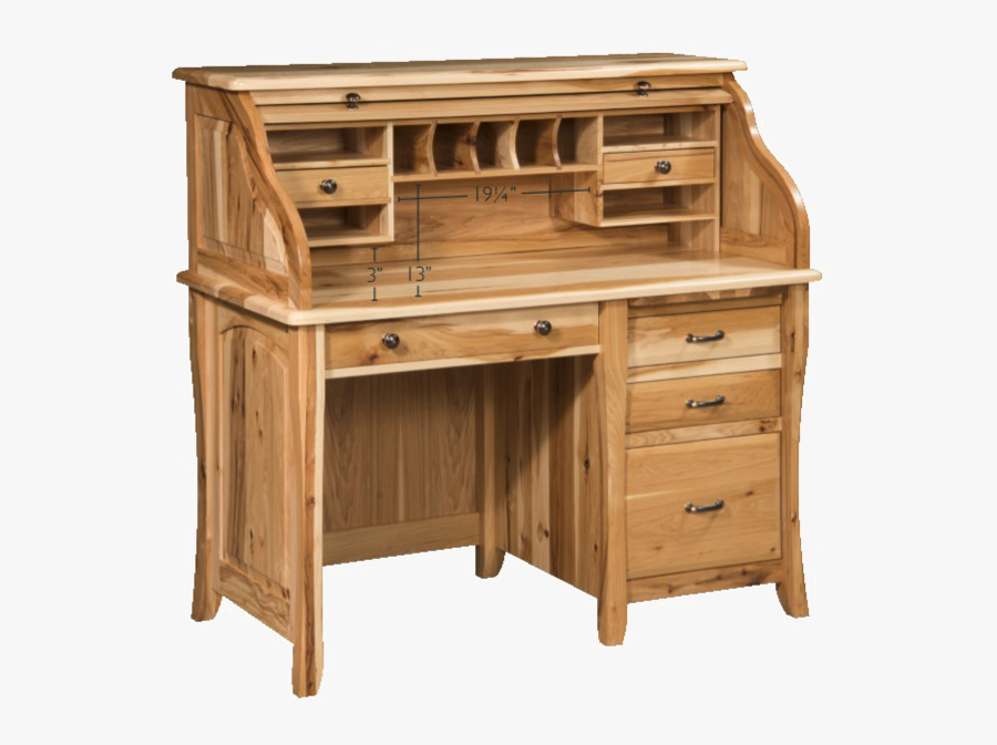 Small Roll Top Desk With Drawers, Transparent Clipart
