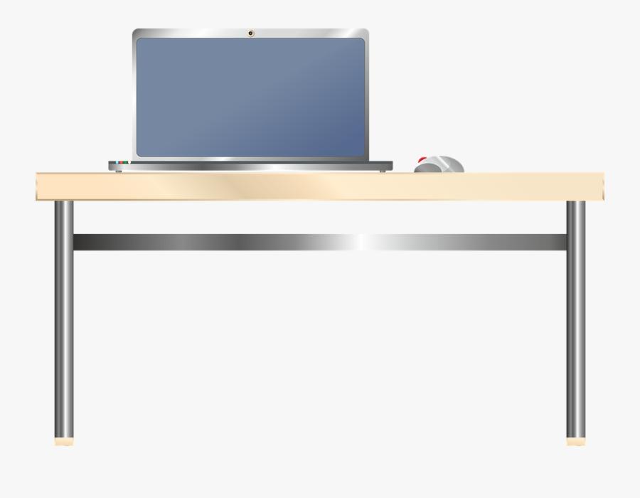 Computer Desk Png Free Download - Computer On A Desk Png, Transparent Clipart
