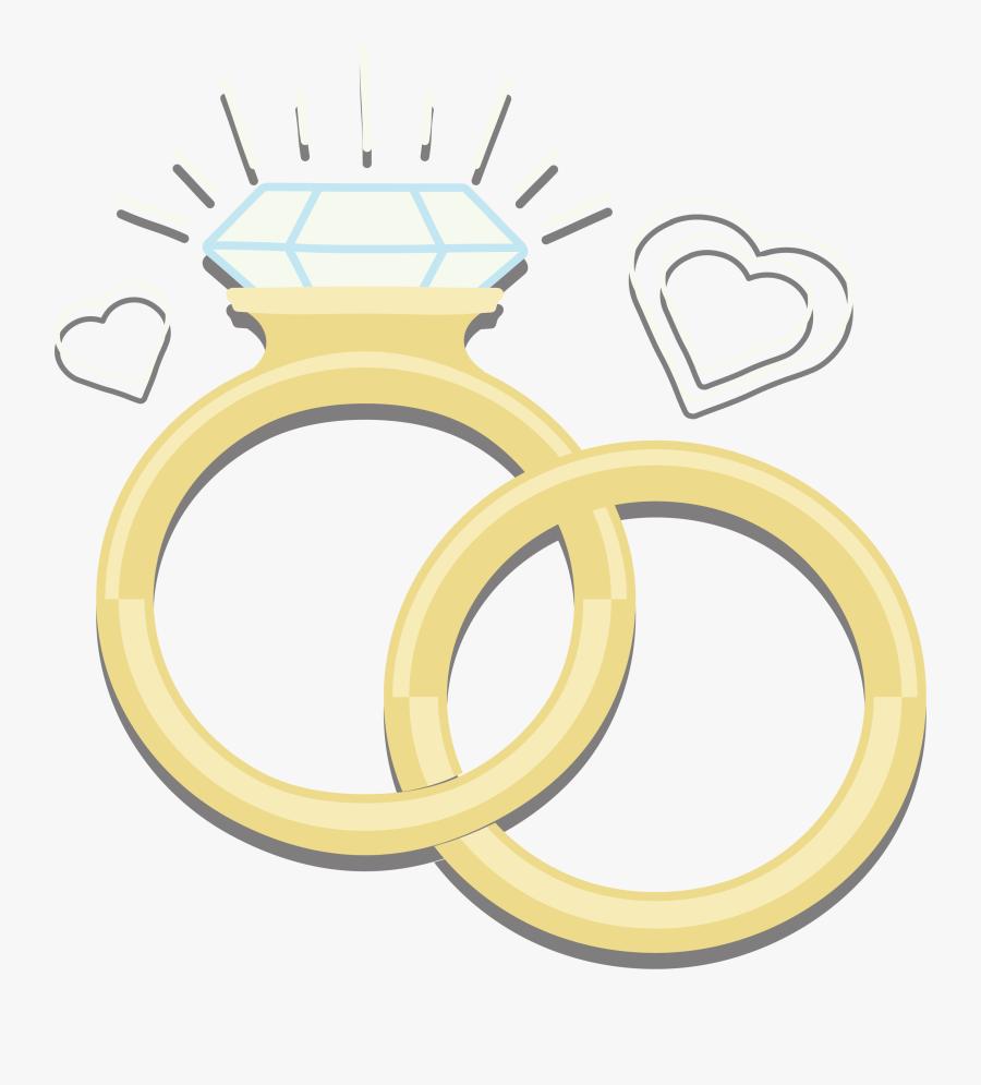 Diamond Rings Sparkling Euclidean Vector Wedding Ring - Heart, Transparent Clipart