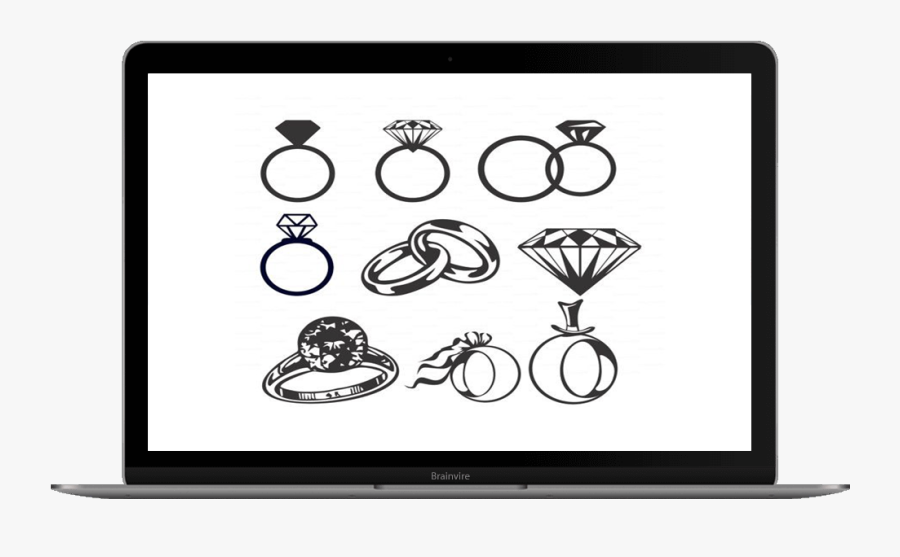 Wedding Ring Free Vector, Transparent Clipart