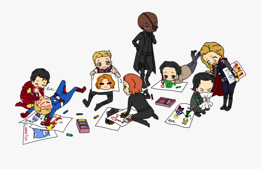 Avengers, Captain America, And Fanart Image - Drawing Cute The Avengers, Transparent Clipart
