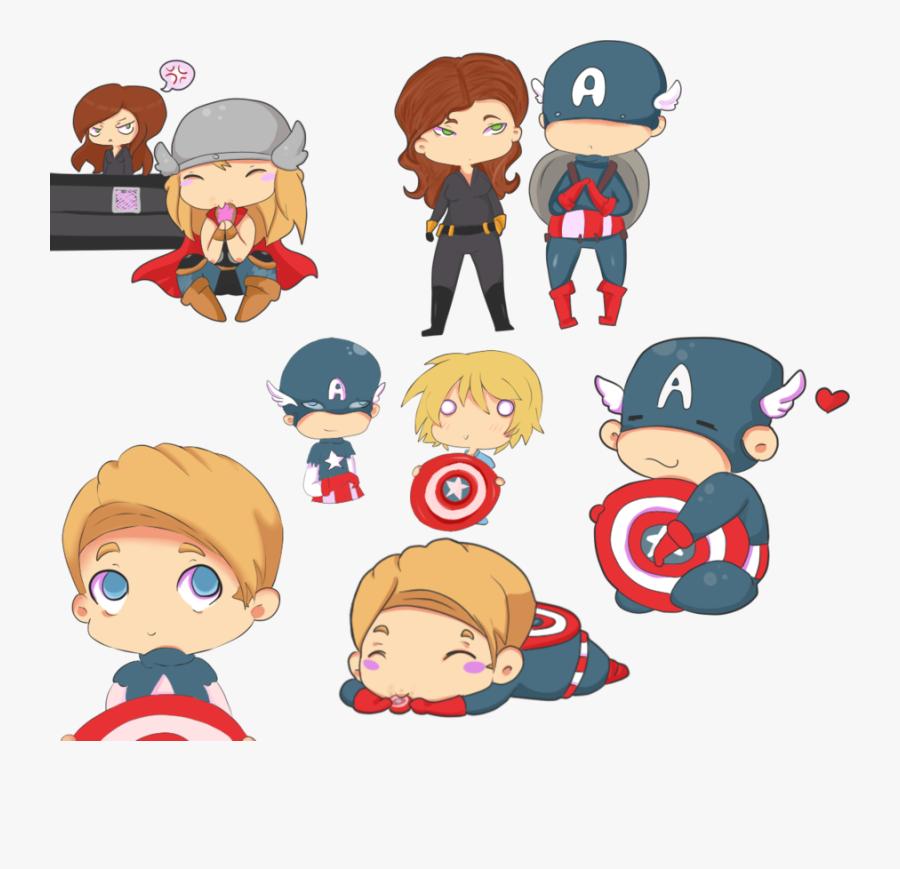Avengers Chibi Fan Art, Transparent Clipart
