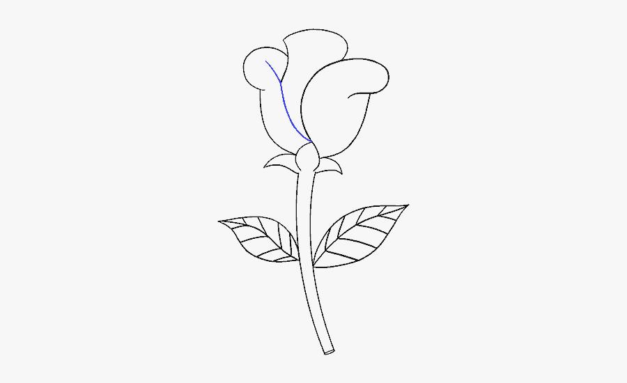 How To Draw Simple Rose - Cách Vẽ Hoa Hồng Đơn Giản Nhất, Transparent Clipart