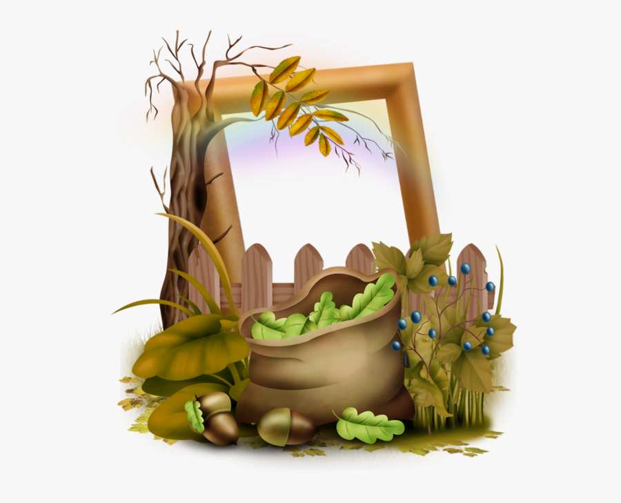 Clipart Bear Autumn - Cadre Automne Png, Transparent Clipart