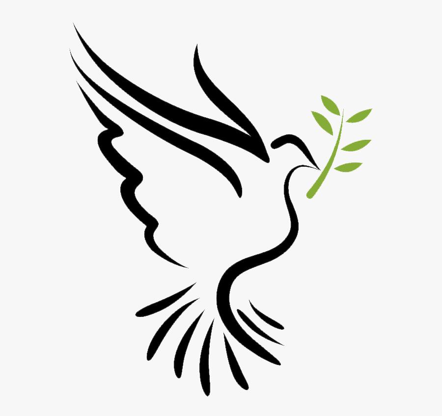 Bible Doves As Symbols Holy Spirit Columbidae - Holy Spirit Dove Logo, Transparent Clipart