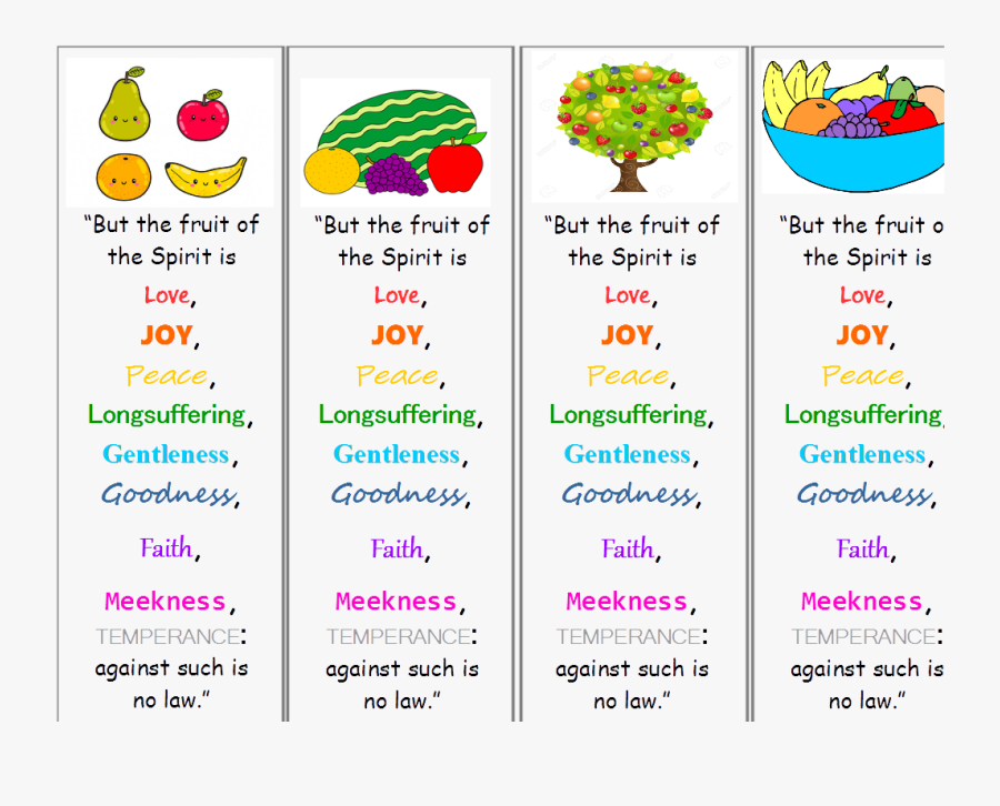 Fruit Of The Spirit Png - Fruits Of The Holy Spirit Bookmark, Transparent Clipart