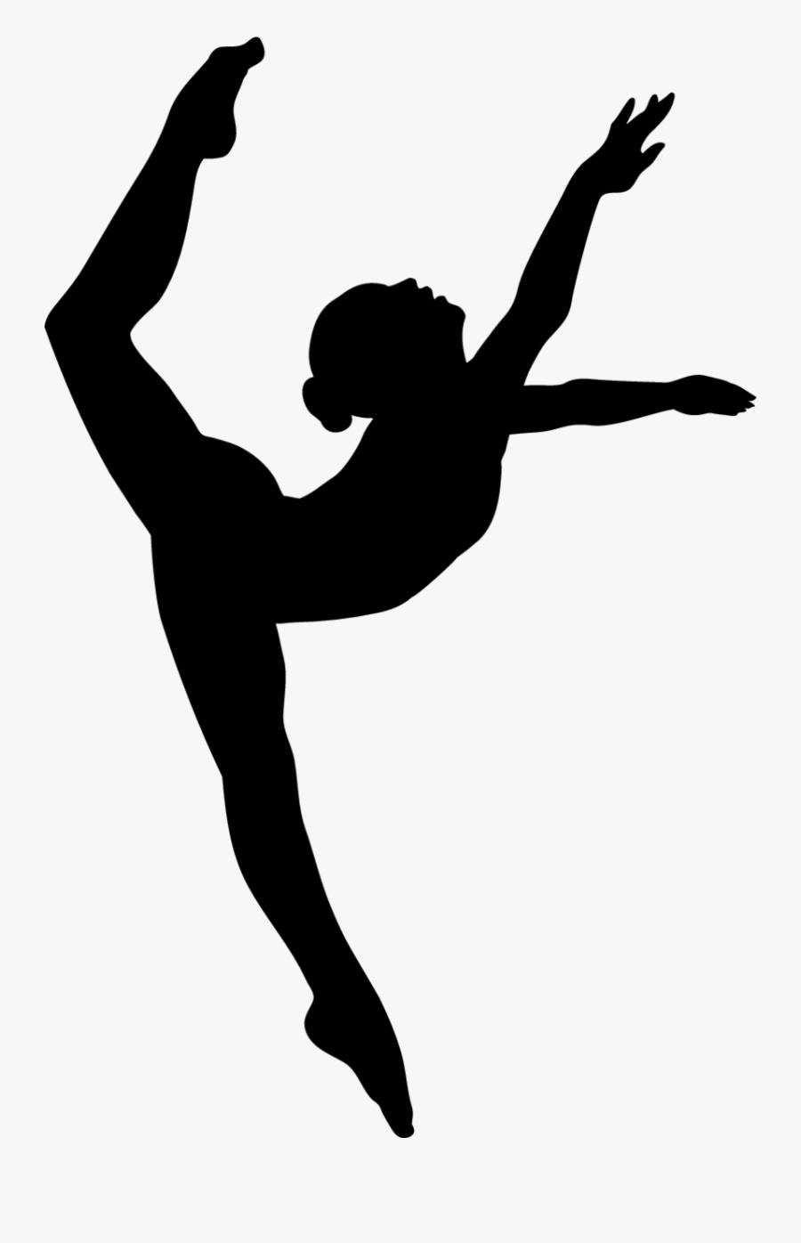 Modern Dance Shoe Silhouette Clip Art Silhouette Contemporary Dance Free Transparent Clipart Clipartkey