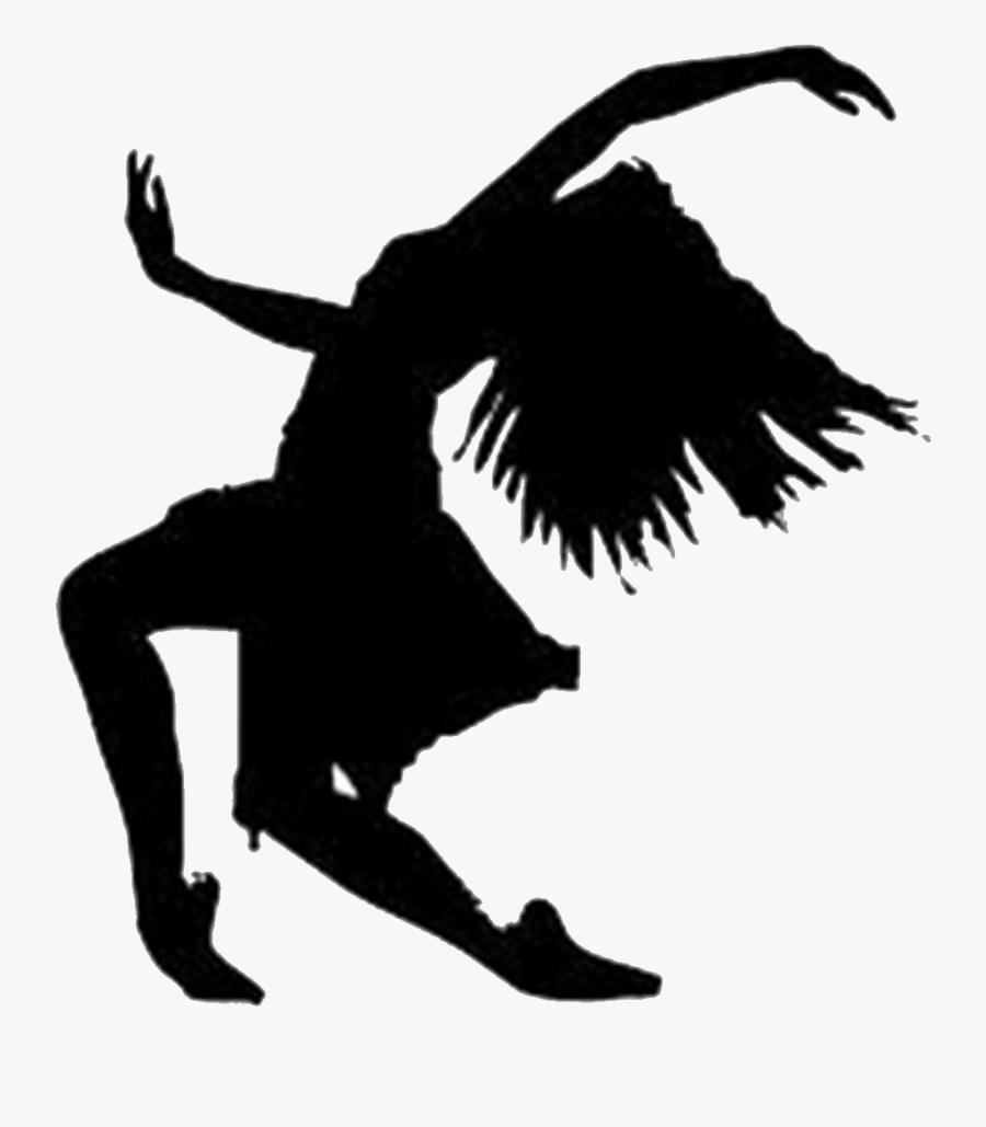 Silhouette Ballet Contemporary Dance Clip Art - Contemporary Dance Silhouette, Transparent Clipart