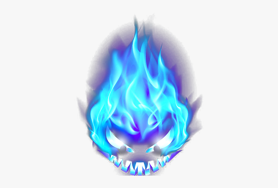 Blue Flame Png Image With Transparent Background - Blue Fire Transparent Background, Transparent Clipart
