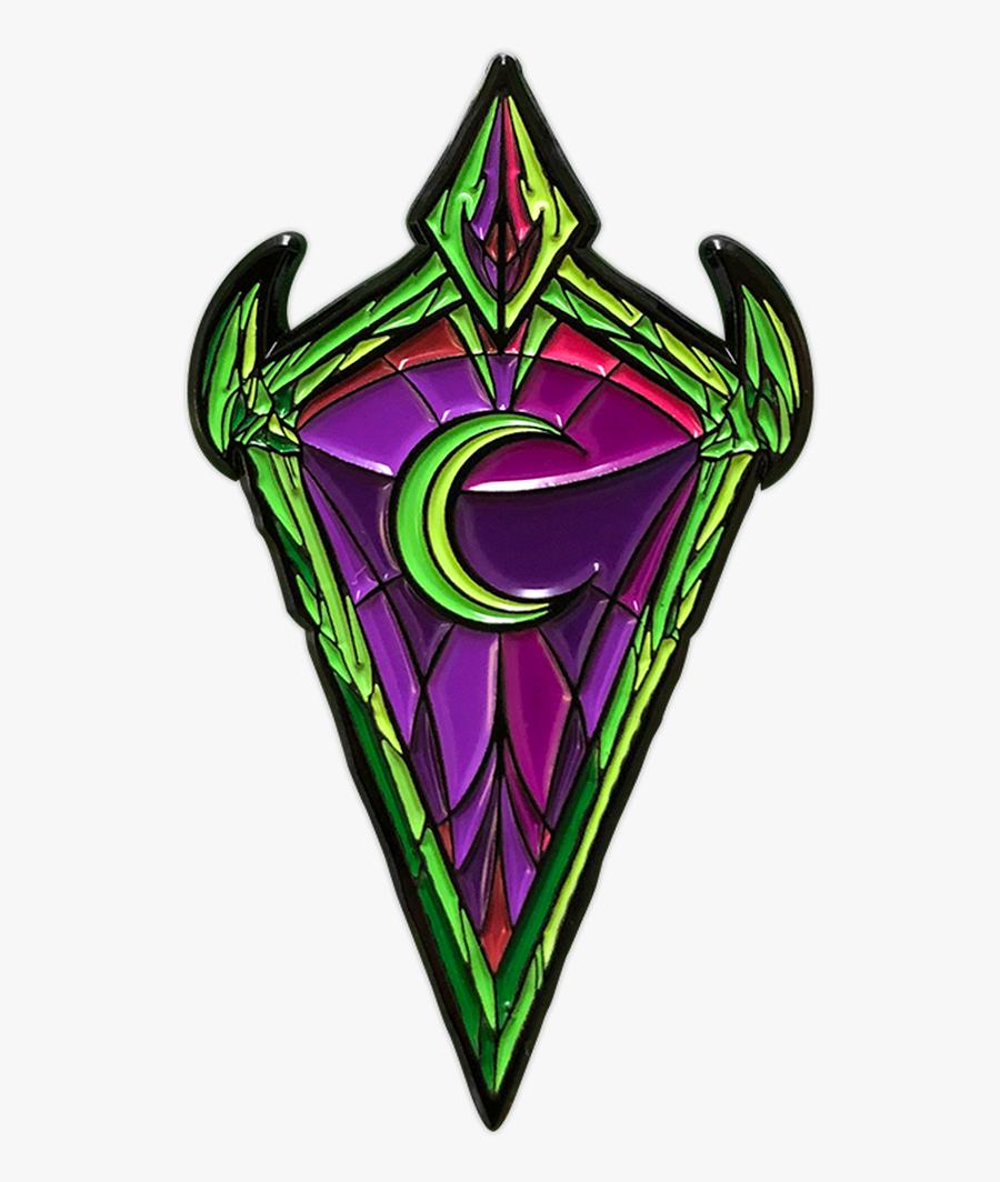 Phyrexius Shield Pin - Emblem, Transparent Clipart