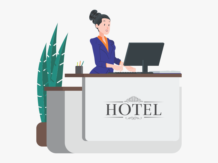 Front Desk - Front Desk Hotel Front Office, Transparent Clipart