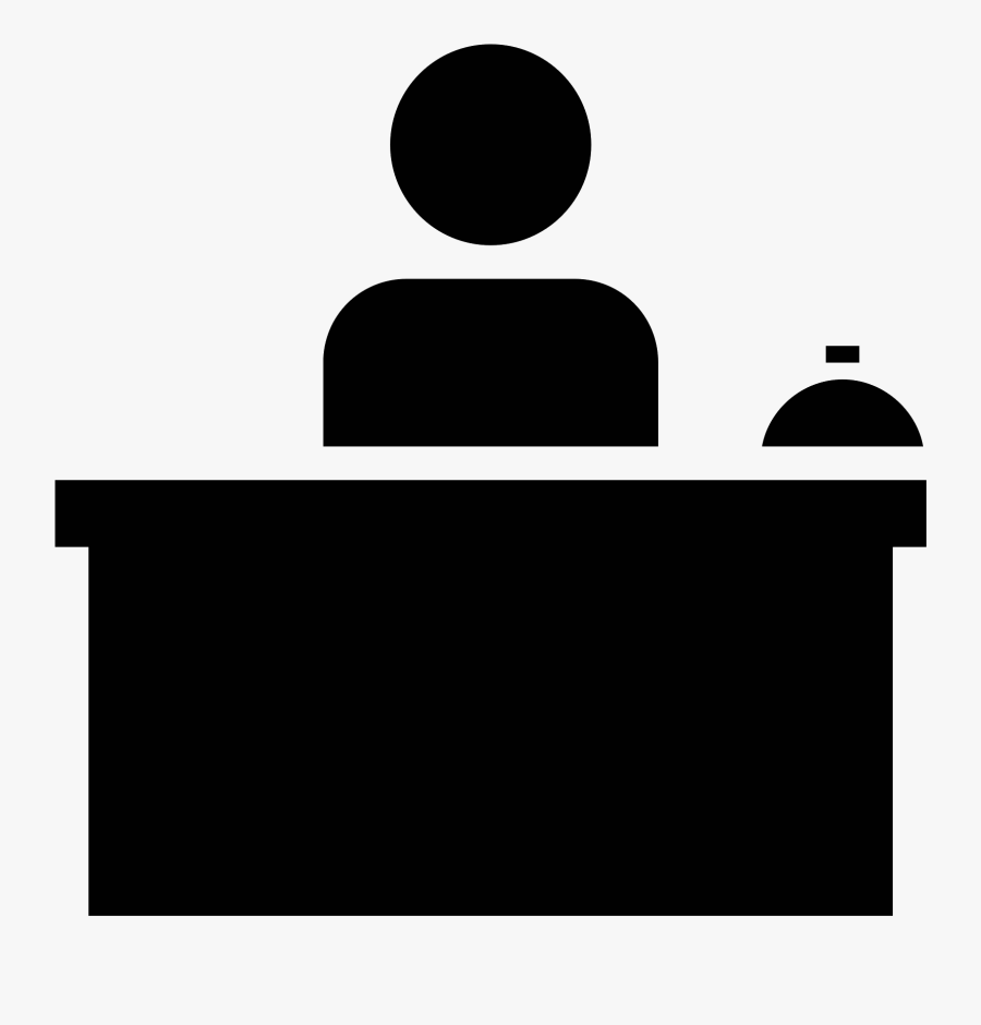 Computer Icons Receptionist Desk Front Office Clip - Front Desk Icon Transparent, Transparent Clipart