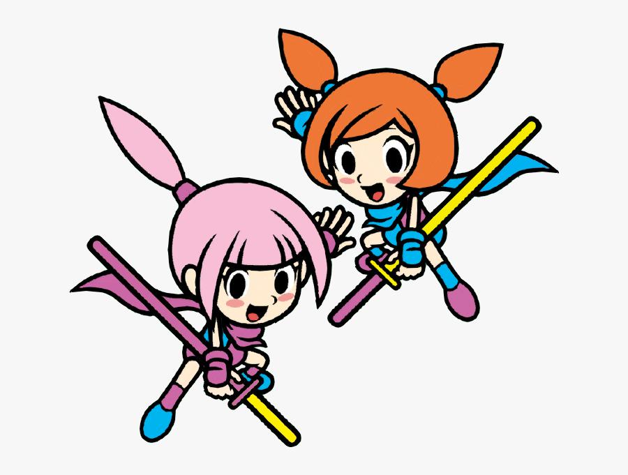 #girl #anime #ninja #sword #otaku #otakugirl #orangehair - Kat And Ana Png Game And Wario, Transparent Clipart