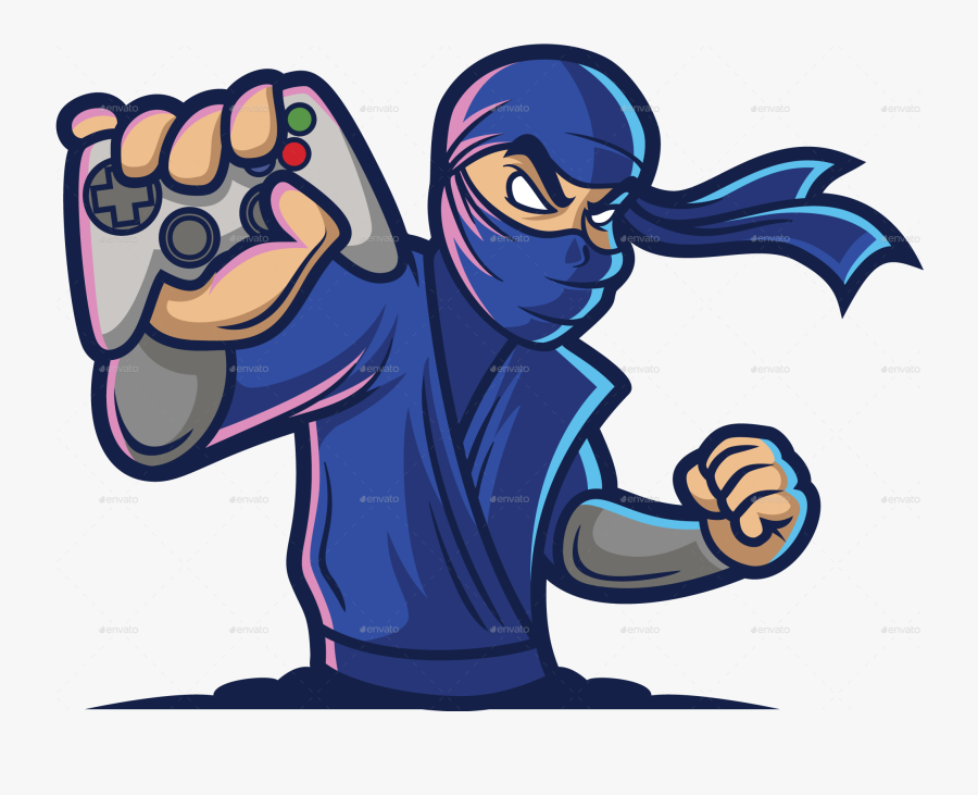 Ninja Gaming Logo Png, Transparent Clipart
