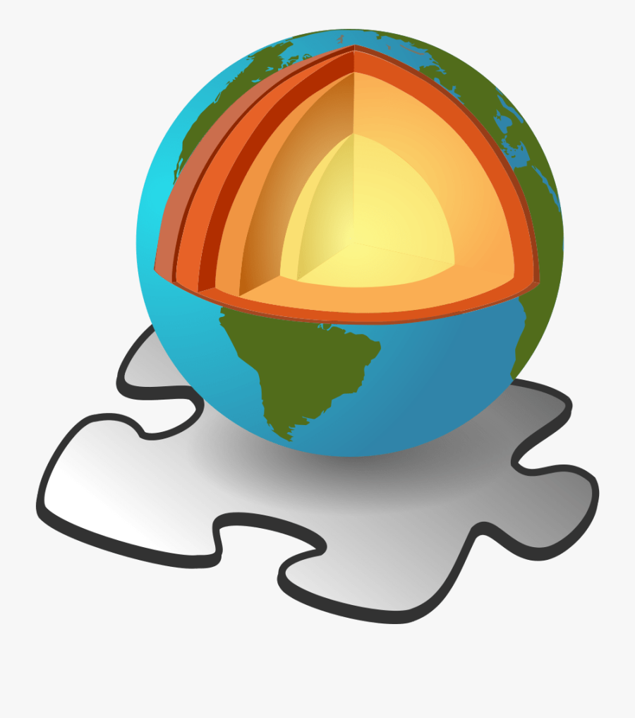 Structure Of The Earth Without Labels, Transparent Clipart