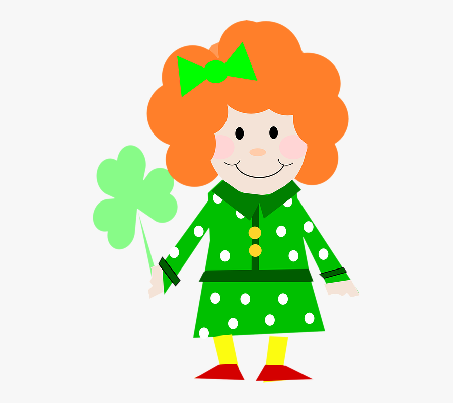 Girl Leprechaun Pictures 13, Buy Clip Art - Two Digit Addition With Regrouping St Patricks, Transparent Clipart