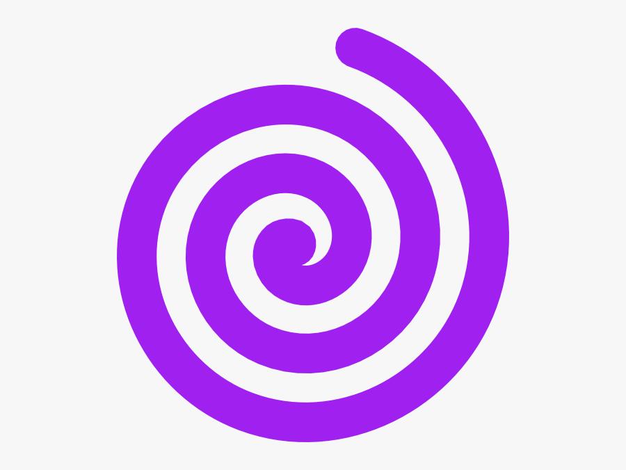 Transparent Spiral Purple - Spirals Clipart, Transparent Clipart