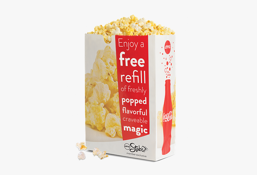 Movie Theater Popcorn Png Large Bag Amc Popcorn Free Transparent Clipart Clipartkey