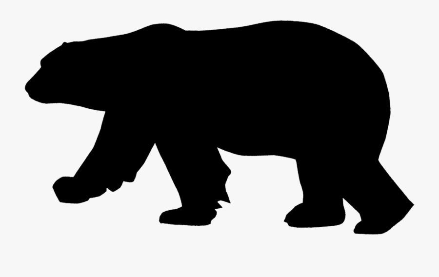 Polar Bear American Black Bear Silhouette Pizzly - Polar Bear Silhouette Png, Transparent Clipart
