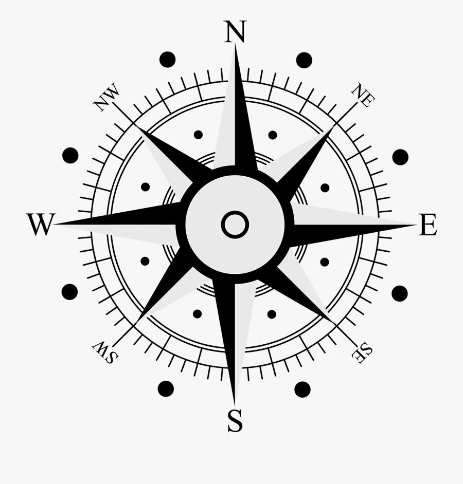 Compass Rose Symbol - Brujula Dibujo La Rosa Delos Vientos, Transparent Clipart