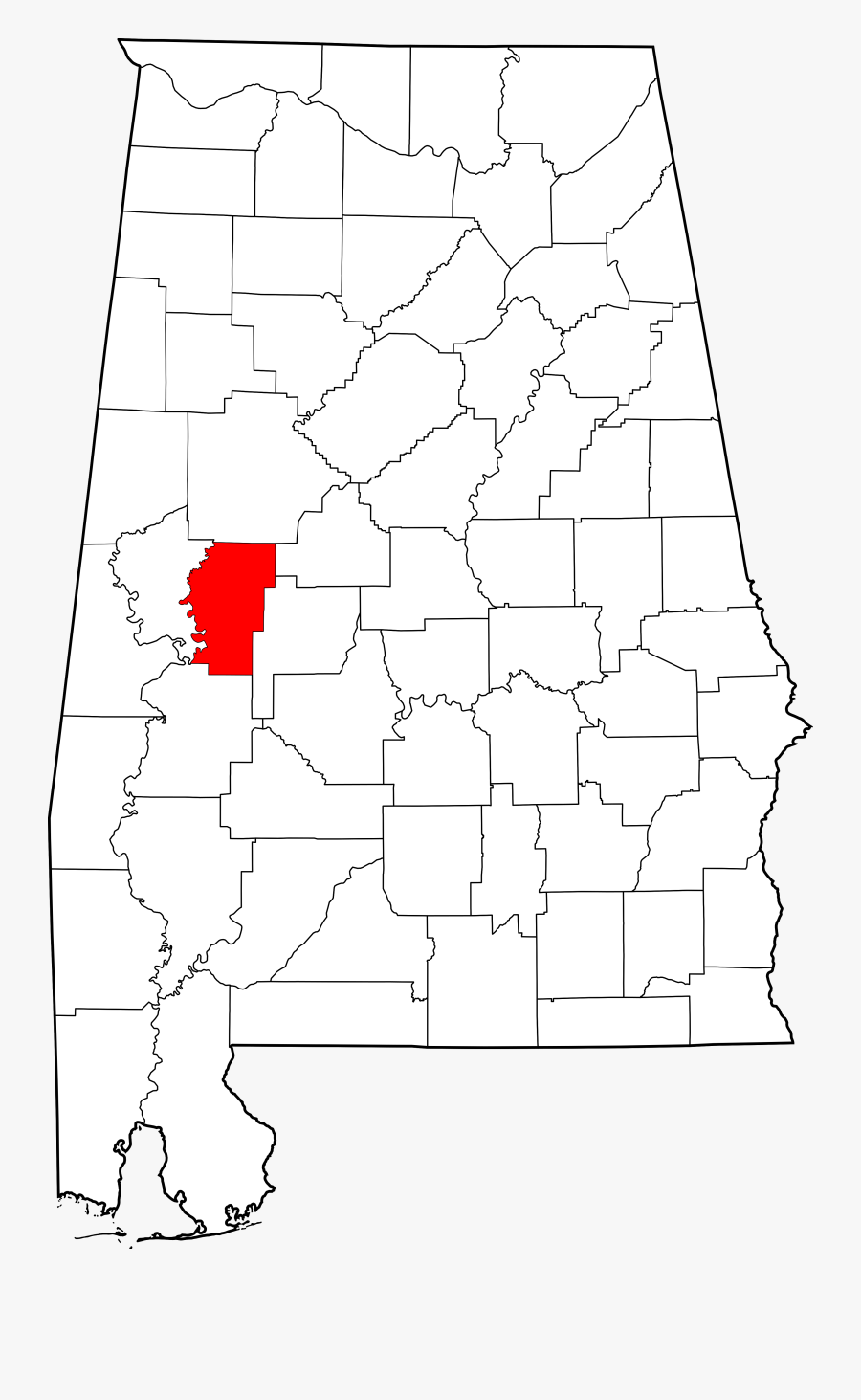 File Map Of Highlighting - Limestone County Alabama Map, Transparent Clipart