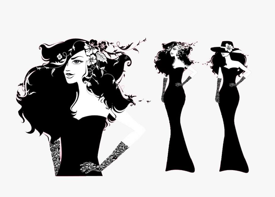 Fashion Illustration Model Female - Transparent Fashion Style Png, Transparent Clipart
