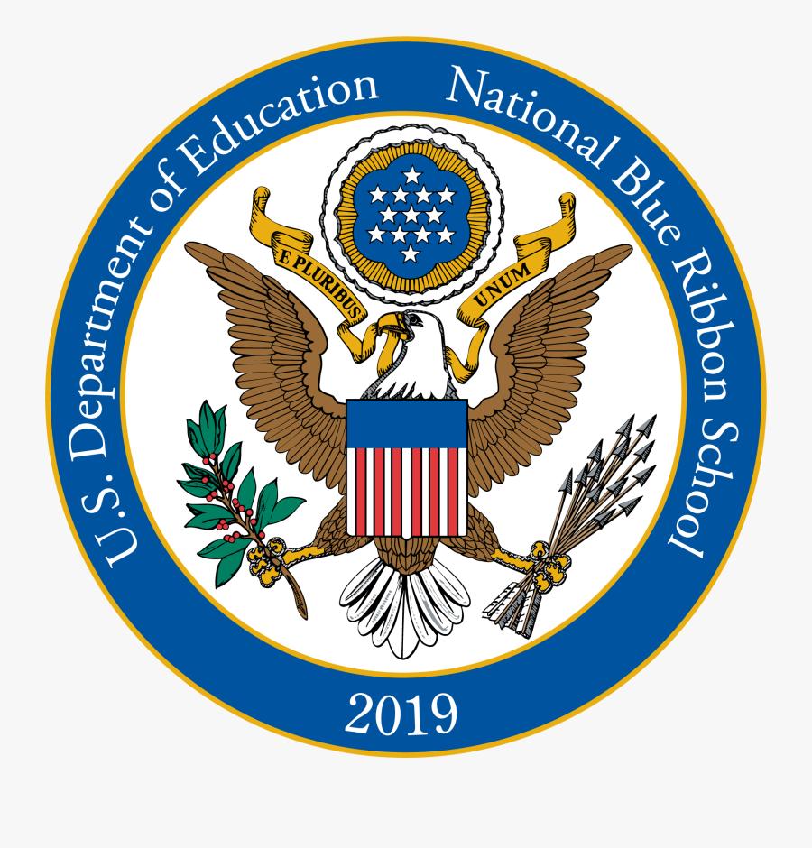 Blue Ribbon School Logo 2018, Transparent Clipart
