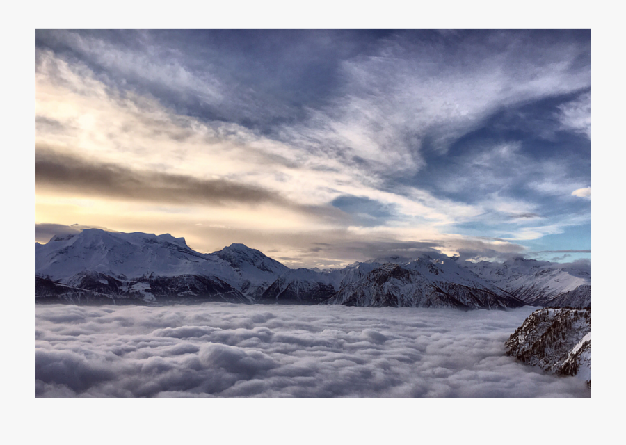 #background #mountains In The #clouds #sky #overlay - Summit, Transparent Clipart
