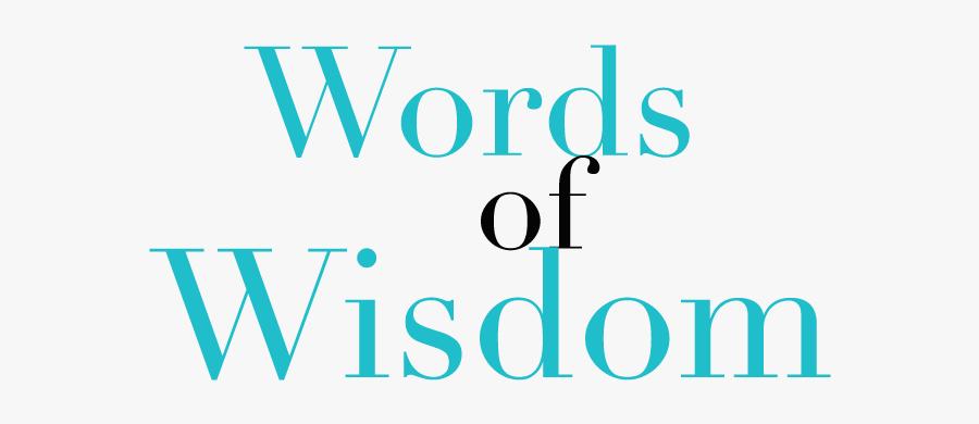 Index Of - Words Of Wisdom Transparent, Transparent Clipart