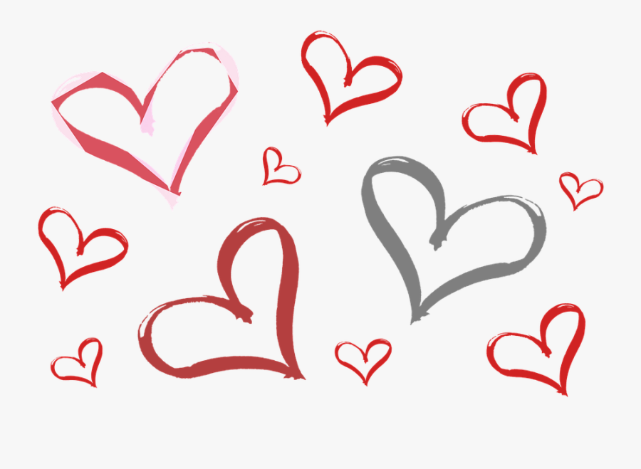 Valentines Day Hearts Png - Happy 75th Birthday Aunt, Transparent Clipart