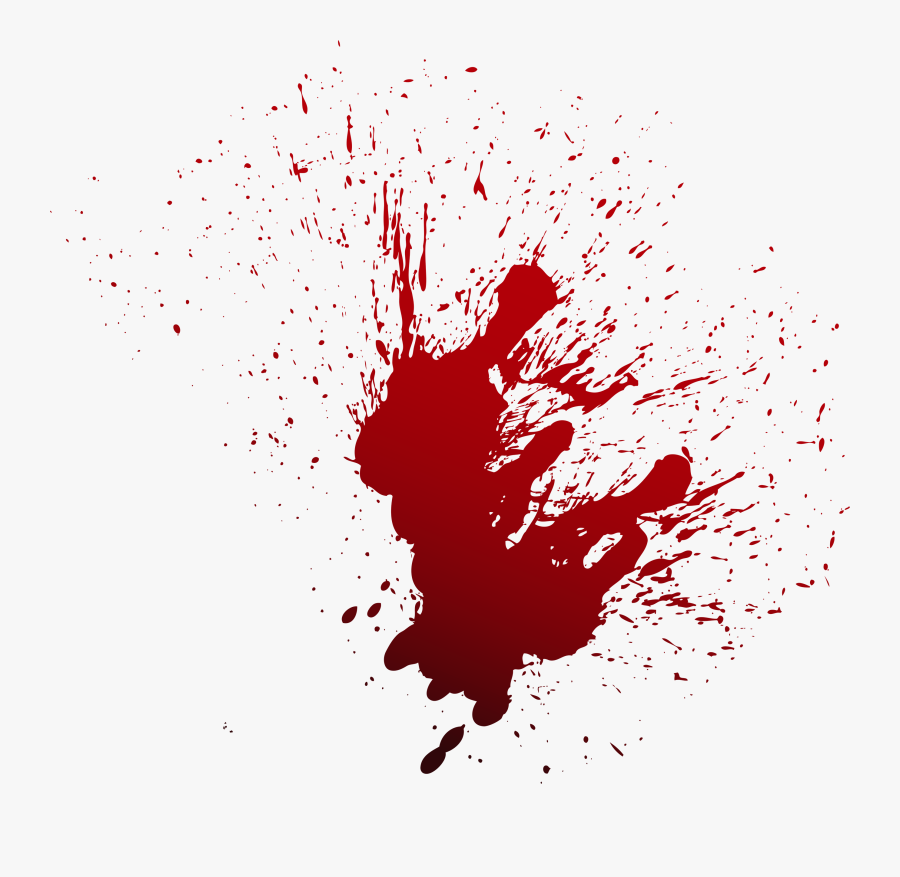 Red Blood Spray Png Download - Blood Stain Png, Transparent Clipart