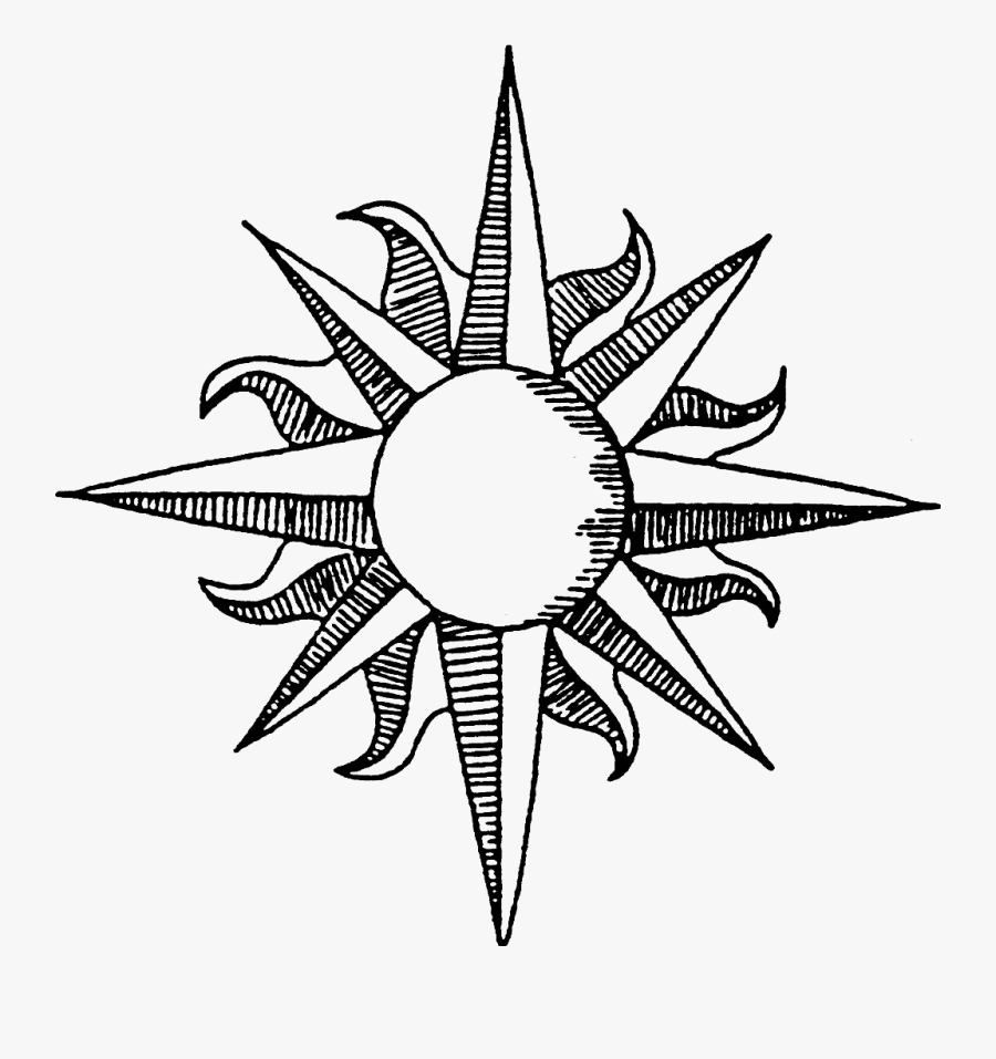 #sun #stickers #summer #sunshine #sol #compassrose - Sun Tumblr Draw, Transparent Clipart