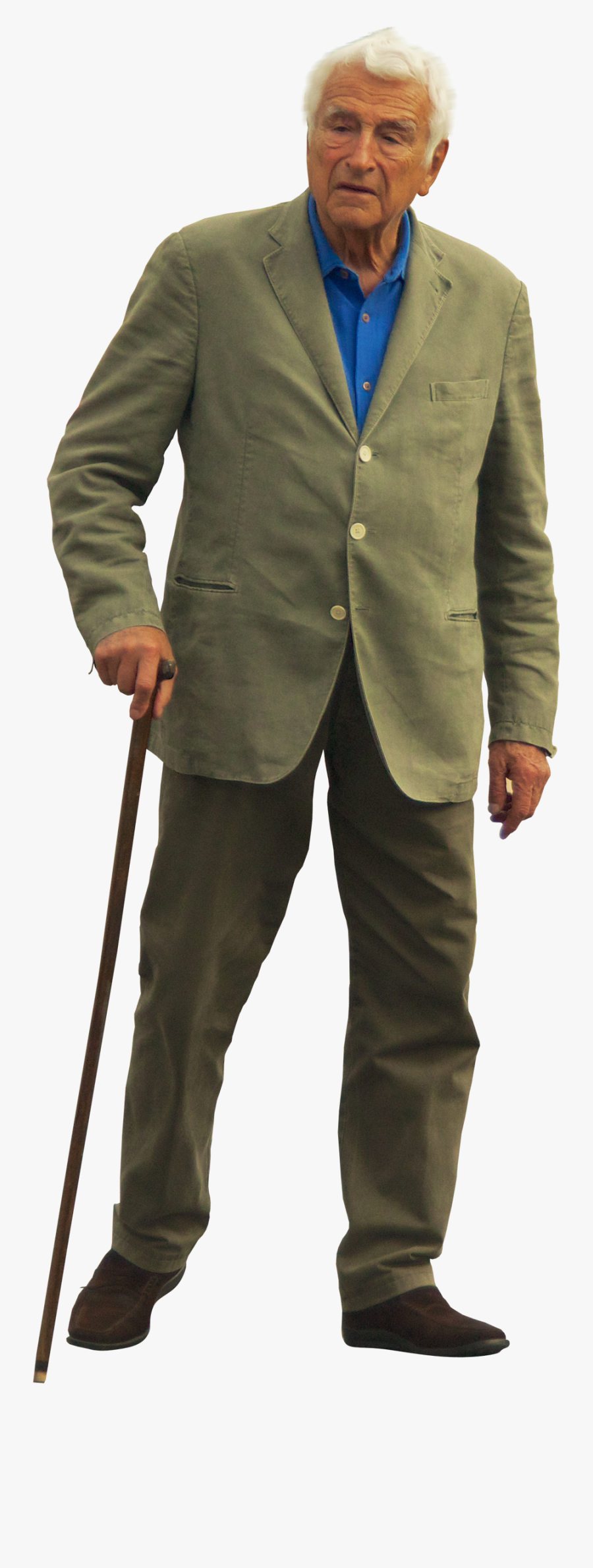Old Man With Walking Stick Png, Transparent Clipart