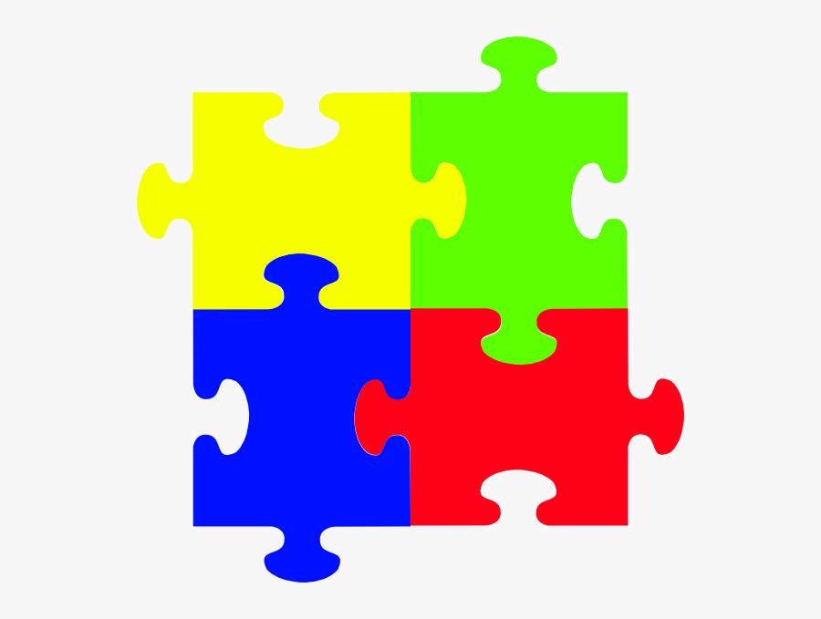 Big Clip Art At - Autism Red Puzzle Piece, Transparent Clipart