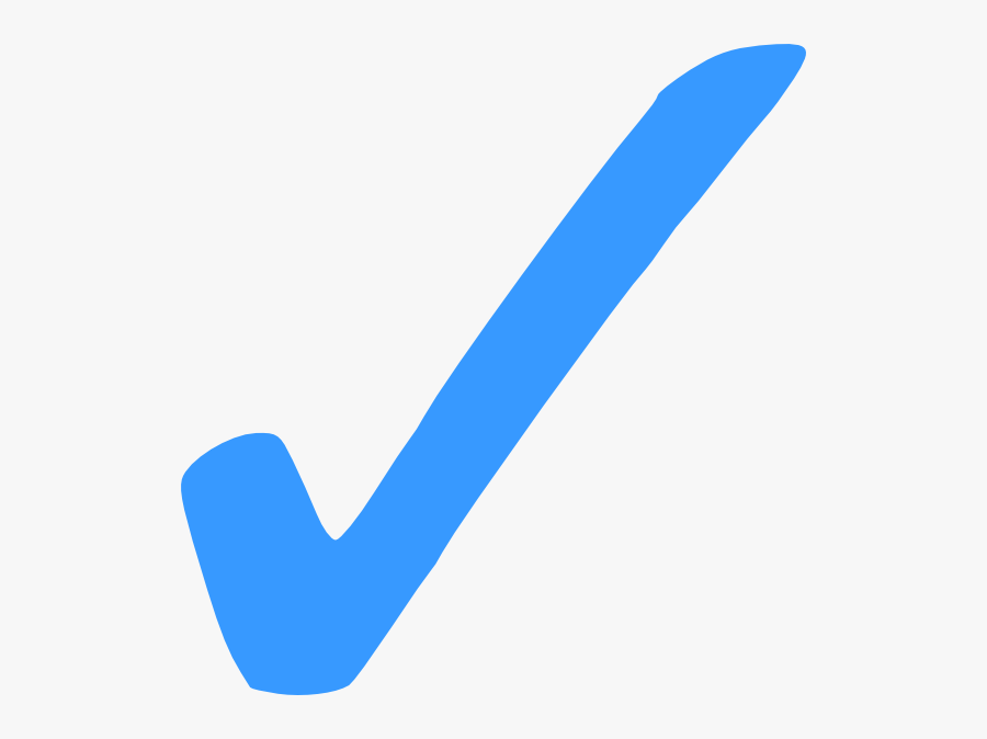 Blue Check Mark Png Hi - Check Mark Symbol Blue, Transparent Clipart