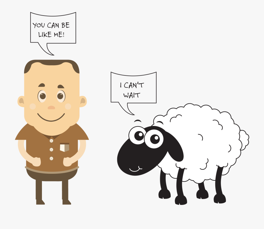 Sheep Clipart Gone Astray - Like Sheep Gone Astray Clipart, Transparent Clipart