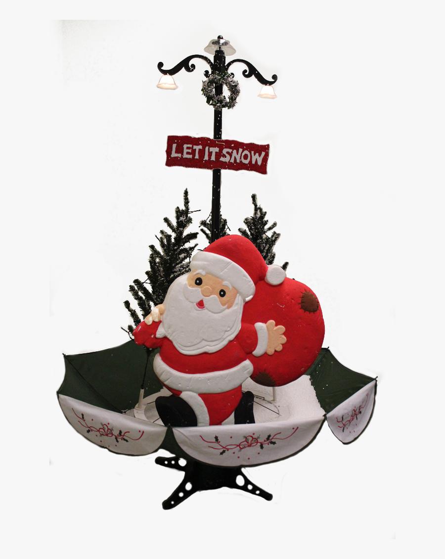 The Santa Snowing Christmas Tree - Christmas Ornament, Transparent Clipart