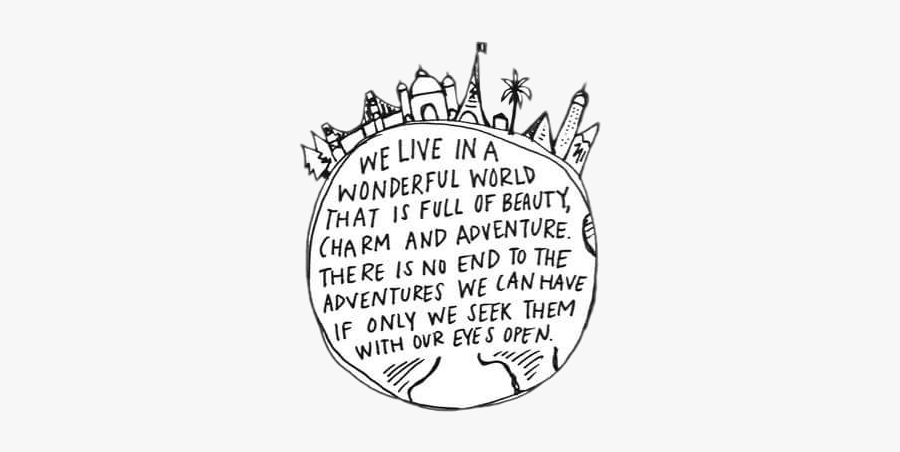 #adventure #travel #wanderlust #blackandwhite #words - Illustration, Transparent Clipart