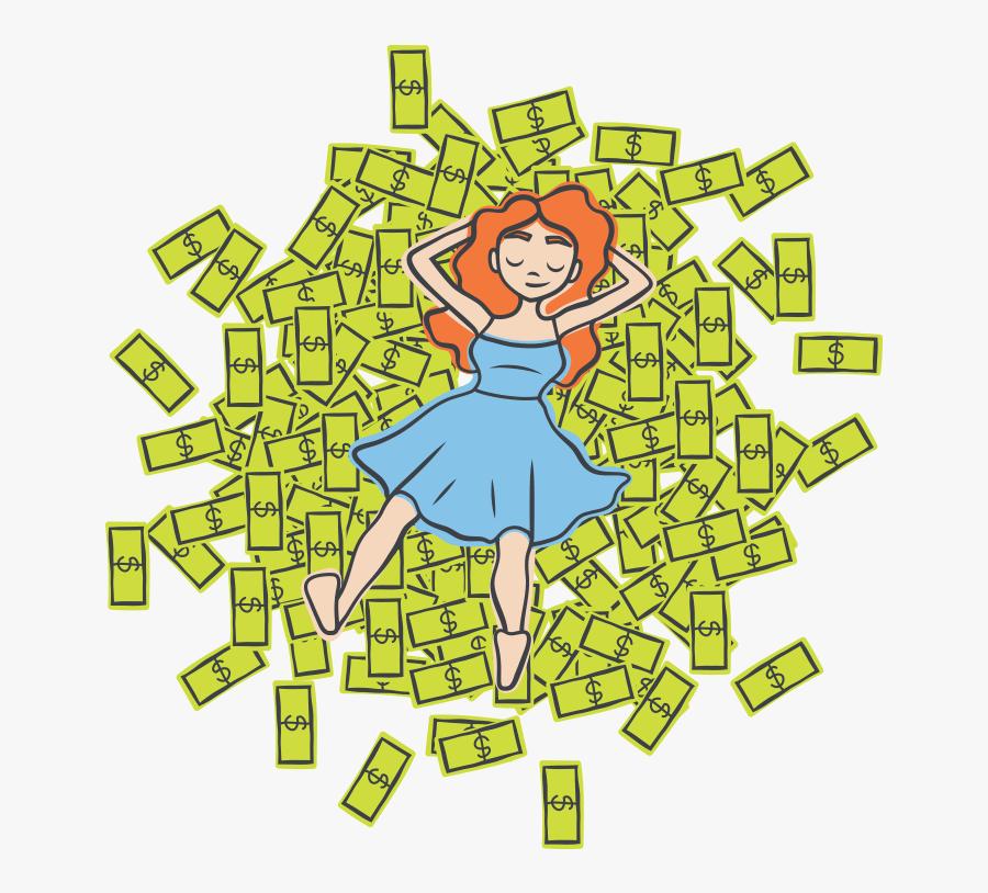 Grocery Clipart Spending Money - Cartoon, Transparent Clipart