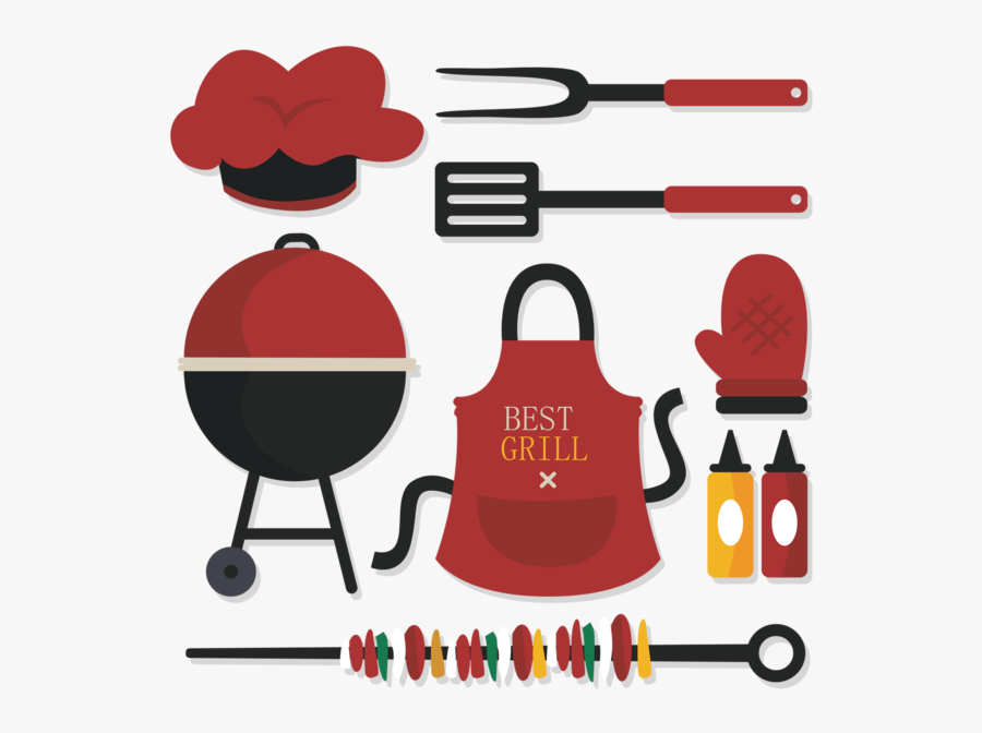 Tout Pour Le Barbecue, Kit Png, Tube - Food Illustration Bbq, Transparent Clipart