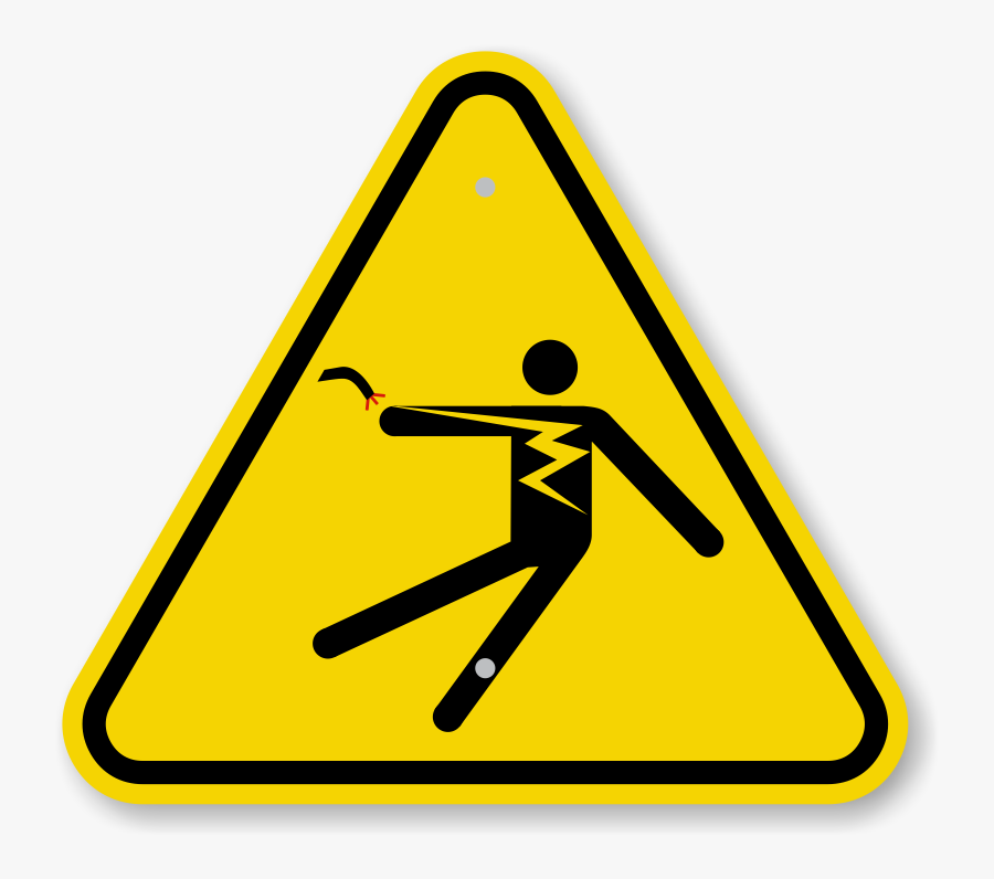 Electricity Clipart Electricity Danger - Warning Automatic Start Up Sign, Transparent Clipart