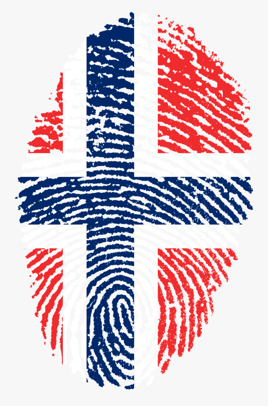 Pin By Cynthia Wright On Tattoos - Norway Flag Fingerprint, Transparent Clipart
