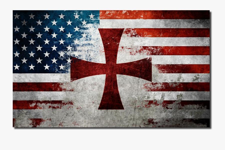 Clip Art Crusader Flag - Thin Blue Line Flag Png, Transparent Clipart