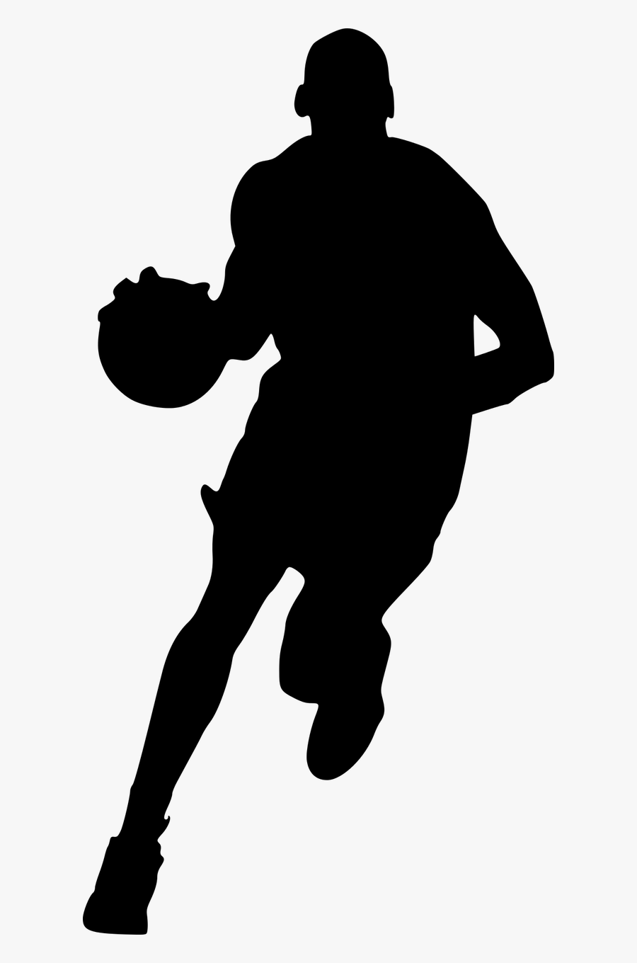 Silhouette Basketball Dunking Free Picture - Dunking Basketball Player Silhouette, Transparent Clipart