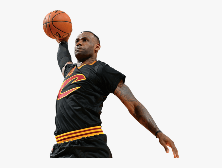 Clip Art Lebron Fathead - Transparent Background Basketball Player Png, Transparent Clipart