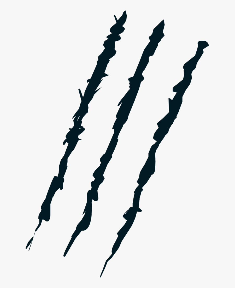 Transparent Claw Scratch Marks Png - Claw Mark Transparent Background, Transparent Clipart