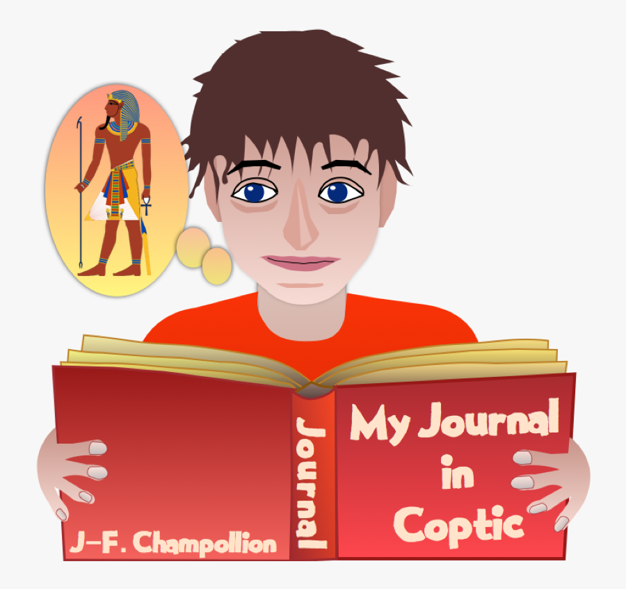 Jean François Champollion Egyptian Dictionary On Hieroglyphic, Transparent Clipart