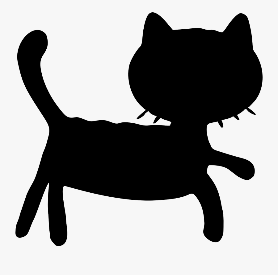 Whiskers Domestic Short-haired Cat Black Cat Dog - Cat Grabs Treat, Transparent Clipart