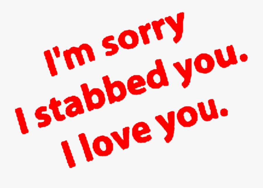 #aesthetic #red #text #quote #dark #sorry #love #apology - Red Aesthetic Dark Love, Transparent Clipart
